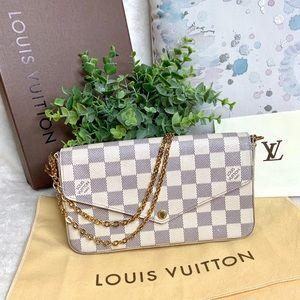 Louis Vuitton Bags - Louis Vuitton Felicie Pochette Damier Azur Handbag